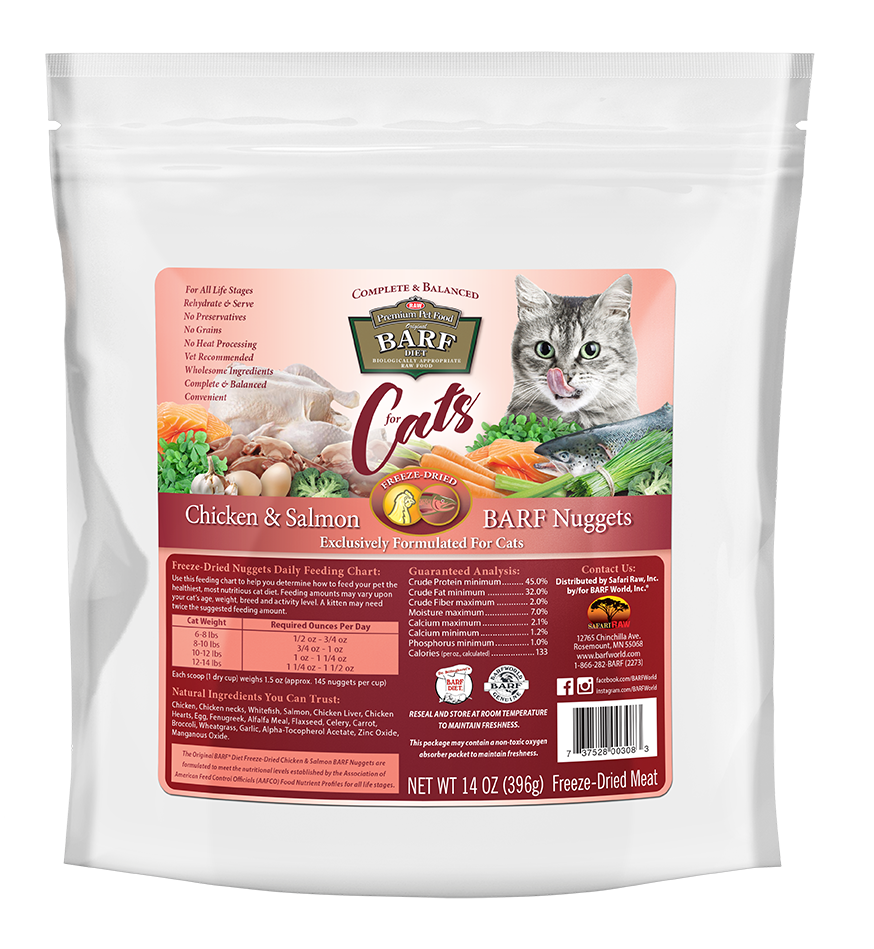 Freeze-Dried Chicken and Salmon Cat Nuggets